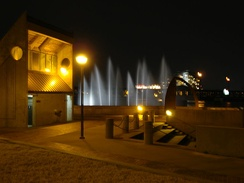 Tulsa's River Parks contain many monuments and attractions, such as these fountains.