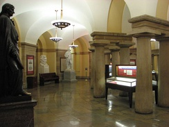 The crypt in 2007, looking southwest from south entrance.