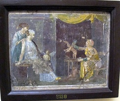 Venditrice di amorini, fresco from Villa Arianna, Stabiae (National Archaeological Museum, Naples).