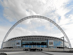 Wembley Stadium, London, home of the England national football team, is one of the most expensive stadia ever built[571]