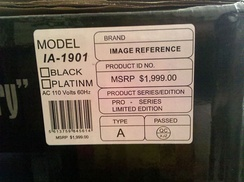 A fraudulent Manufacturer's Suggested Retail Price on a speaker