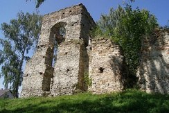 Ruins of the Calvinist church in Lapczyna Wola, Poland.