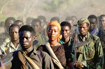 Oromo Liberation Front rebels in Kenya armed with AK-47 rifles.