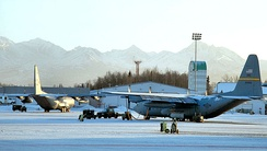 144th Airlift Squadron moving out of Kulis AGB, February 2011.