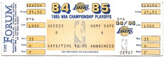 A ticket for Game 2 of the Western Conference Semifinals between the Lakers and the Trail Blazers.