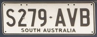 South Australia number plate