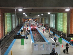 Blue Line terminal at O'Hare International Airport.