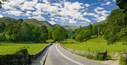 The A591 as it passes between Ambleside and Grasmere