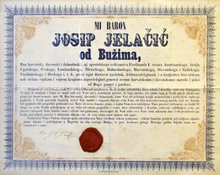 The proclamation by count Josip Jelačić abolishing serfdom in the Kingdom of Croatia, dated 25 April 1848