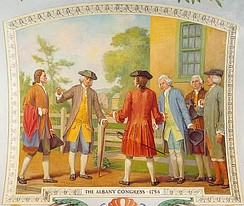 The Albany Congress of 1754 was a conference attended by seven colonies, which presaged later efforts at cooperation. The Stamp Act Congress of 1765 included representatives from nine colonies.