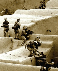 DA/SR Operators from 1st SOB (Special Operations Battalion) respond to enemy fire in Afghanistan.