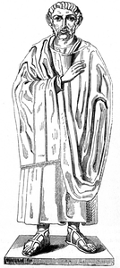 Drawing based on a statue of Saint Ambrose
