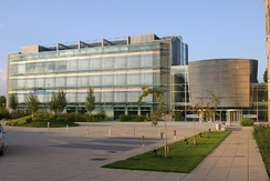 Anglia Ruskin University's Michael A. Ashcroft Building, opened in 2002 in Chelmsford. It houses the Lord Ashcroft International Business School.