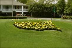 Masters logoat the club entrance