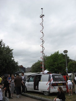 BBC Oxford radio car at the Cowley Road Festival 2010