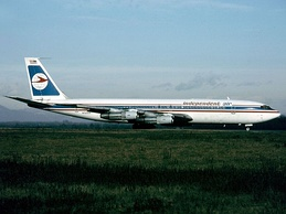 Independent Air Boeing 707 involved in a fatal incident in the hills of Pico Alto