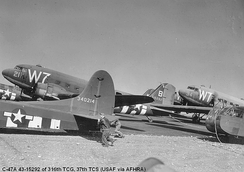 Douglas C-47A of the 37th Troop Carrier Squadron before Operation Market[1]