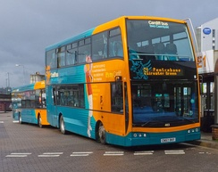Cardiff Bus has the most bus services operating in the Cardiff area.