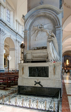 Bellini's tomb in the Catania Cathedral in Sicily