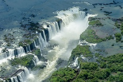 Iguazu Falls, Paraná, in Brazil-Argentina border, is the second most popular destination for foreign tourists who come to Brazil for pleasure.