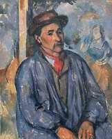Paul Cézanne, Man in a Blue Smock, 1896-1897