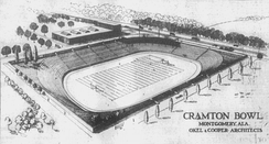 An architect's sketch of Cramton Bowl in 1921