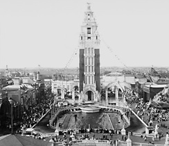 Dreamland tower and lagoon in 1907