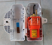EPIRB emergency locator beacon on a ship
