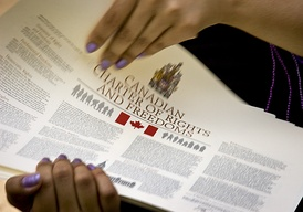 Printed copies of the Canadian Charter of Rights and Freedoms