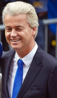 Geert Wilders, leader of the Party for Freedom, a hardline Dutch Eurosceptic party and a prominent anti-Islamic radicalism party.
