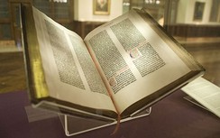 Lenox copy of the Gutenberg Bible in the New York Public Library