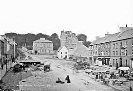 Dungannon Market Square in the 1880s