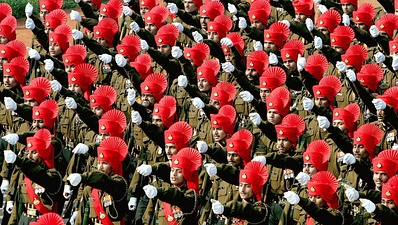 Soldiers of the Rajput Regiment of the Indian Army