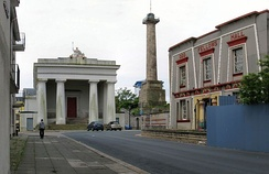 Grade I listed Town Hall, Column and Library in Devonport