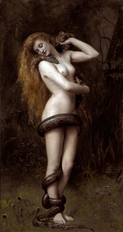Lilith, 1887, now held at the Atkinson Art Gallery in Southport, Merseyside.