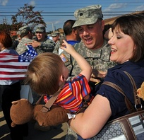 Louisiana Guardsmen return home after Iraq deployment, November 2009