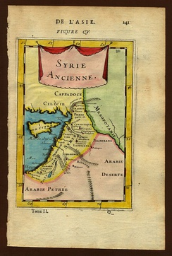 Proximity between Roman Syria and Mesopotamia in the 1st century AD (Alain Manesson Mallet, 1683).