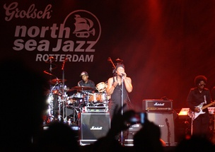 D'Angelo performs at the North Sea Jazz Festival in Rotterdam in 2012.