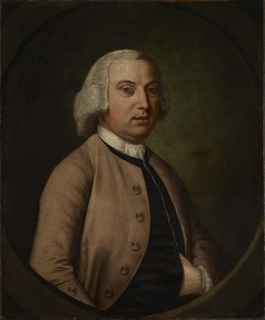 Portrait of Sampson Lloyd II (1699 - 1779), a founder of Lloyds Bank