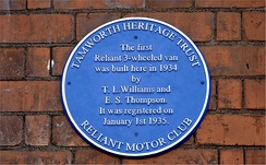Reliant Blue Plaque