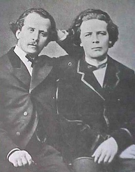 Nikolai (left) and Anton Rubinstein.