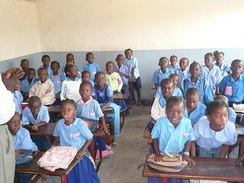 School children in the classroom, Republic of the Congo