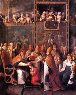 Coronation of Louis XV at Reims Cathedral (1722)