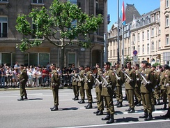Luxembourg soldiers during National Day