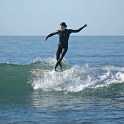 Surfer in Pacific Beach, California