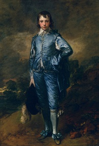 Django's valet costume was inspired by Thomas Gainsborough's 1770 oil painting, The Blue Boy.