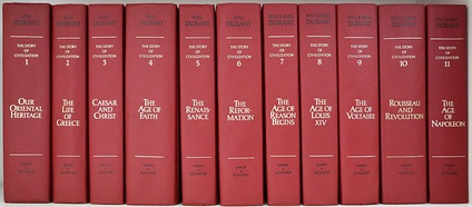 The 11 volumes of The Story of Civilization
