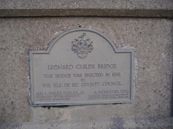 This plaque in Chatteris serves as a reminder of the Isle's county status