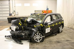 A 2014 Mazda CX-5 crash tested by the National Highway Traffic Safety Administration