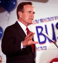 George H. W. Bush campaigning in North Augusta